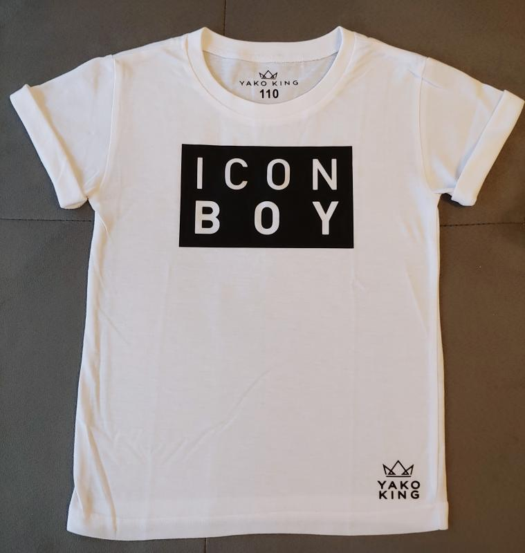 Bílé triko ICON BOY Black/White Modal