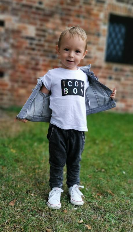 Bílé triko ICON BOY Black/Crystal Modal